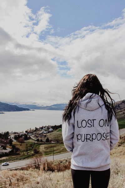 Lost On Purpose hoodie - Grey