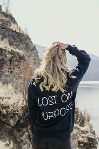 Lost On Purpose hoodie - Navy Blue