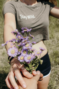 Stay Wild. cropped tee