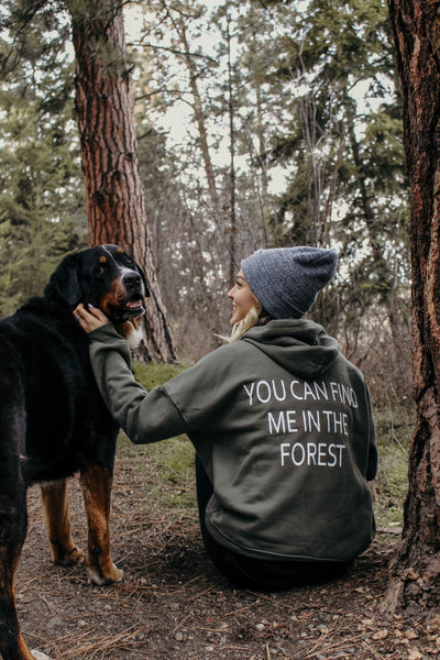 You Can Find Me In The Forest hoodie - Light Green