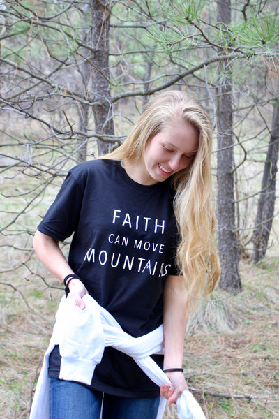 Faith Can Move Mountains tee