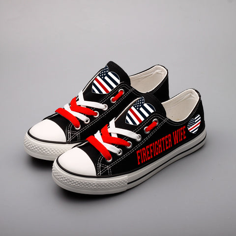 0fb79667f533 ... Firefighter Wife Shoes Low Top Canvas Custom Printed Sneakers ...