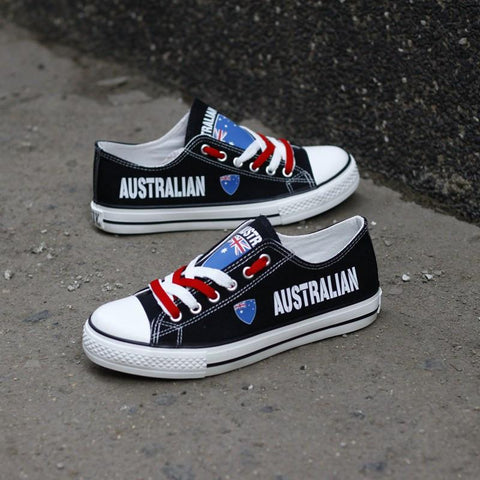 856075cdb3 Australian Flag Pride Shoes Low Top Canvas Custom Printed Sneakers