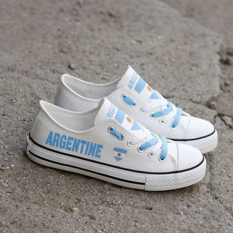 b0ec9f33b3 Argentine Pride Shoes Low Top Canvas Custom Printed Sneakers