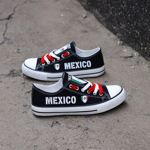 5bdf87e0e714 Proud Mexico Shoes Low Top Canvas Custom Printed Sneakers – Custom ...