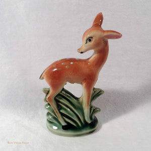 Bambi ornament, cute deer figurine, 1950's home decor, deer ornaments, vintage, retro, kitsch