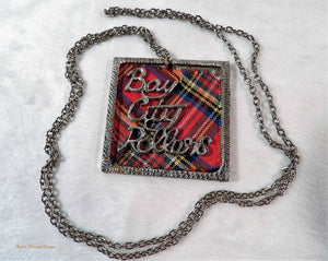 Bay City Rollers, 1970s pop memorabilia, Bay City Rollers merchandise, vintage pendant, 1970s pop