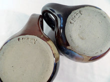 Leoni Lucey pottery, ceramic artist mugs, collectable vintage, coffee mugs