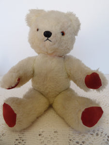 chad valley collectable, 1950s vintage toys, teddy bear, childhood toys, white bear