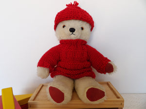 vintage teddy bear for sale' Chad Valley Toy Company, plush bear toy, 1950s childhood teddy,