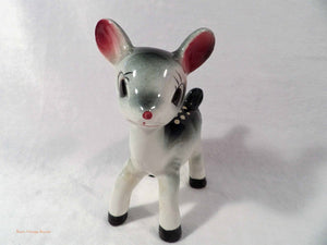 Bambi ornament, vintage bambi deer, kitsch home decor, vintage ornaments, 1950's decor items, 1960's home decor