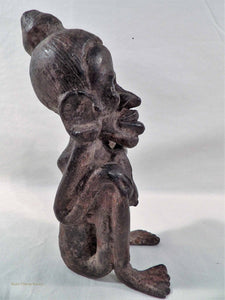 South  vintage metal artform, South East Asian artefact, Oceania Pacific Island sculpture, tribal woman