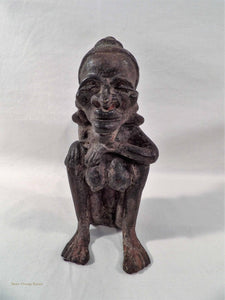 South East Asian artefact, Oceania Pacific Island sculpture, vintage metal artform, tribal woman