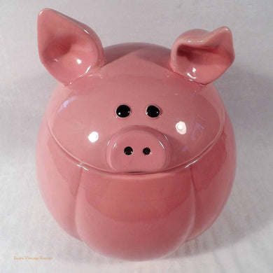 farmhouse pig cookie jar, farmhouse kitchen decor, collectible cookie jars, pink ceramic pig figure, buy cookie jars online au