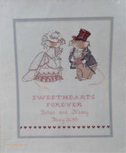 Needle Treasures, Happily ever after design, wedding memorabilia, Sweet Hearts Cross Stitch Embroidery Kit,    1990