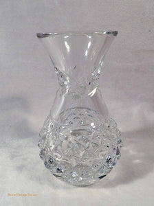 Irish crystal vases, vintage flower vase, Galway Crystal,  glass vase, crystal, Galway Ireland, vintage home decor, country cottage decor