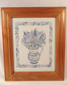 Lucy Davies artist, original flower painting, watercolour, floral design, wall decor, country cottage decor, wall art