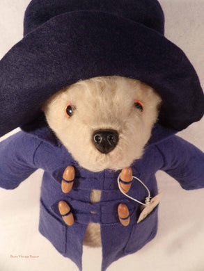 Gabrielle Paddington Bear, original paddington bear, collectible vintage teddy bears, handmade Gabrielle bears, collectors bear