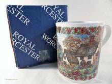 Worcester Porcelain, Country Villages Collection, china mug, English, November theme, collectable china
