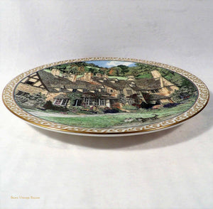 Worcester china, Royal Worcester Porcelain Collectors Plates, Sue Sallard Villages Series, Broadway Village Cotswolds, collectible fine bone china plates, English country villages design, vintage collectibles