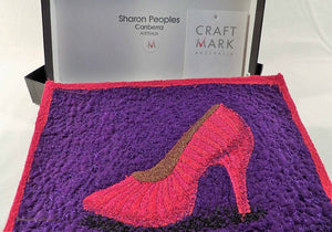 red shoe collection, Red Shoe Museum, Sharon Peoples, Australian embroidery artist, collectibles