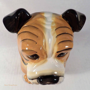 bulldogs, bulldog cookie jar, canine ornament, ceramic dog, vintage cookie jars, collectible cookie jars Australia, animal ornaments