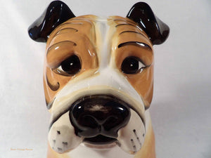 bulldog cookie jar, canine ornament, ceramic dog, vintage cookie jars, collectible cookie jars Australia, animal ornaments
