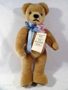 collectible vintage bear, royal family memorabilia, Merrythought teddy bear, The Wedding Bear, Duke and Duchess of York wedding 1986,