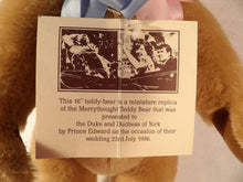 royal family memorabilia,  Merrythought wedding bear, The Wedding Bear, Duke and Duchess of York wedding 1986, collectible vintage bear,