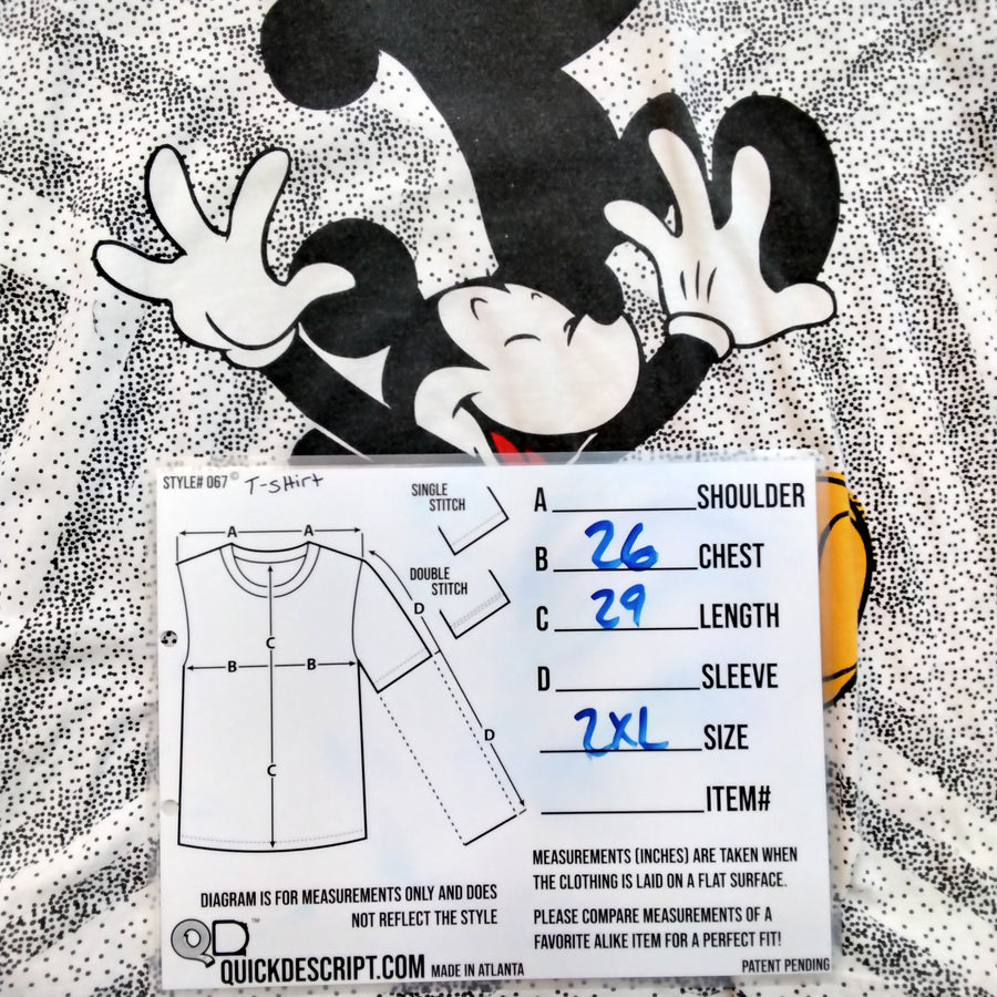 Vintage Mickey Mouse T-Shirt Disney Mens 2XL - Beezy's Department Store