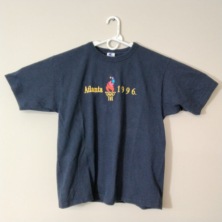 Vintage 96 Olympic Embroidered T Shirt Mens L - Beezy's Department Store