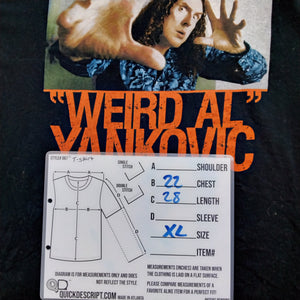 Weird Al Yankovic T-Shirt Mens XL - Beezy's Department Store