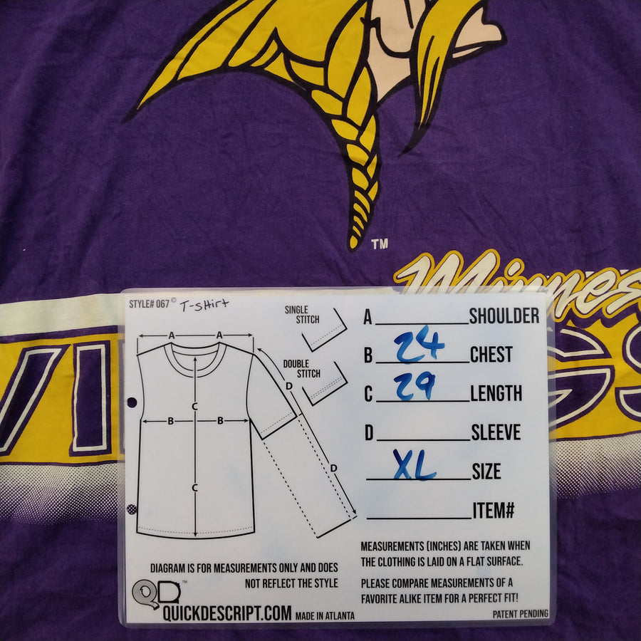 Vintage Salem Sports Minnesota Vikings T-Shirt Mens XL - Beezy's Department Store