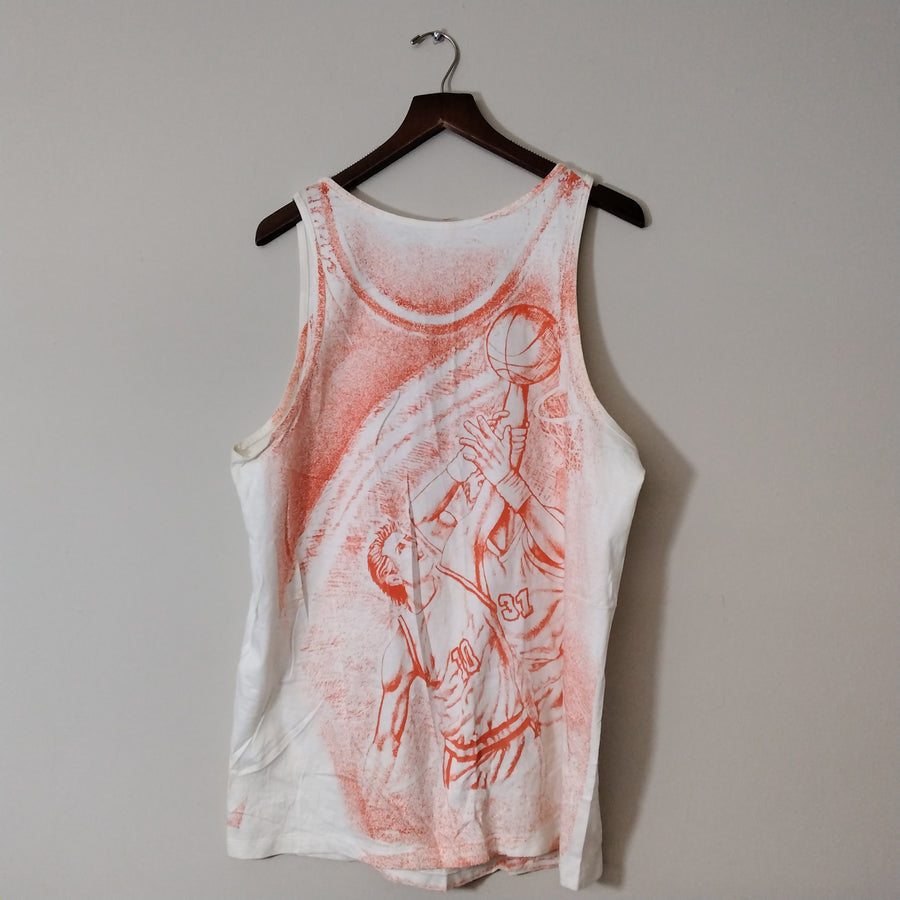 Vintage Syracuse Orangeman Tank Top All Over Print T-Shirt Mens XL - Beezy's Department Store