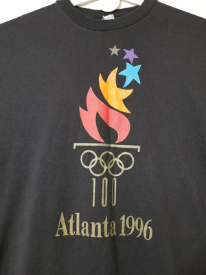 Vintage 96 Olympic Atlanta T-Shirt Black Mens 2XL - Beezy's Department Store