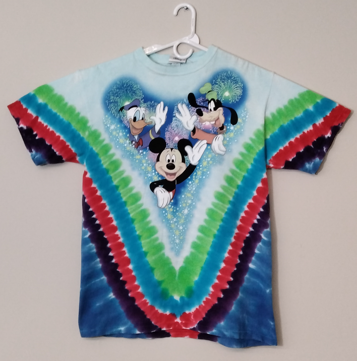 Mickey Mouse Walt Disney World Tie Dyed T Shirt Mens Large - Beezy's Department Store