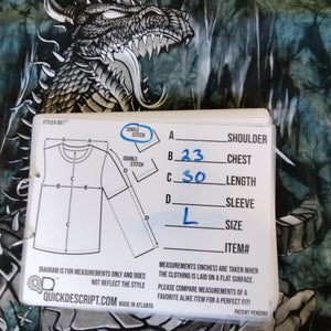 Vintage Liquid Blue Dragon Slayer AOP T Shirt Men's Large - Beezy's Department Store