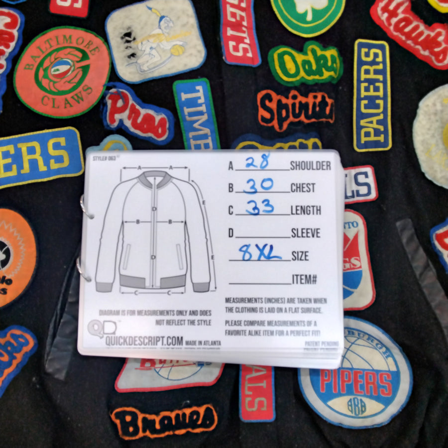 Vintage Jeff Hamilton NBA Patch Jacket Mens 8XL - Beezy's Department Store