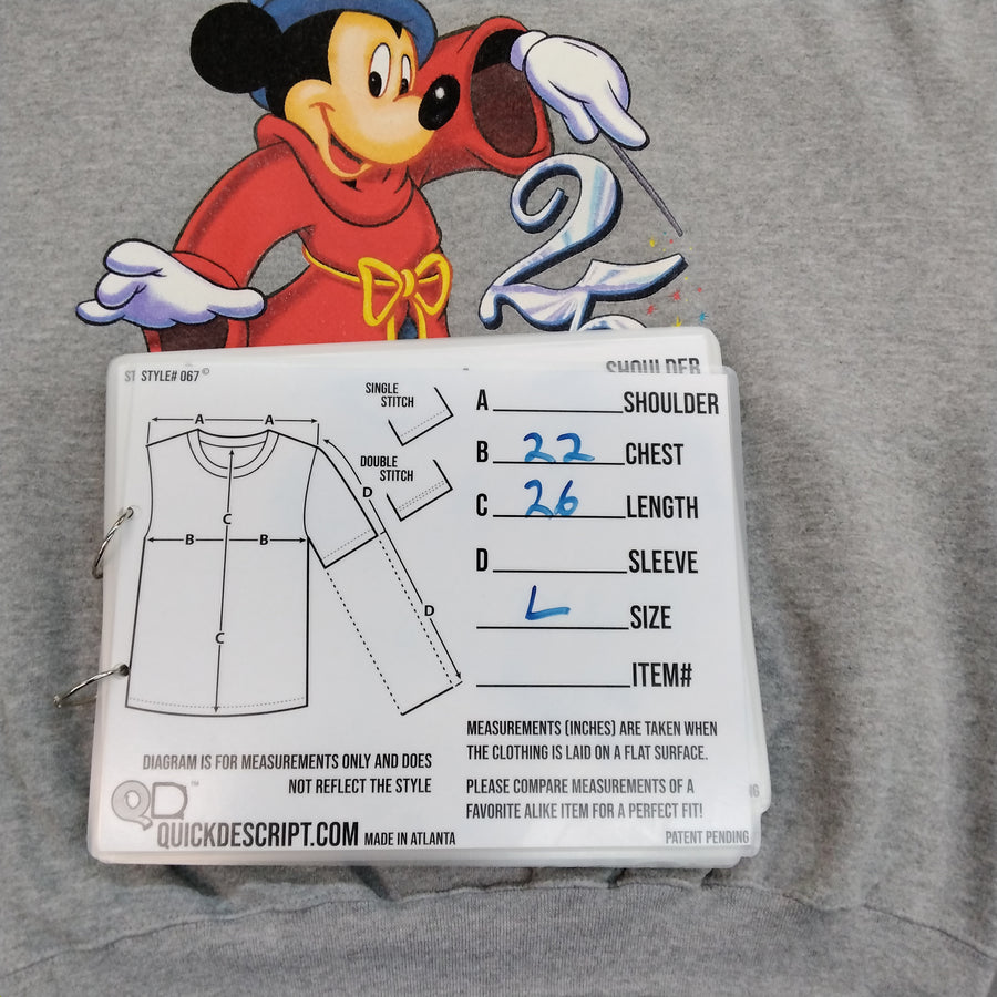 Vintage Walt Disney Sweatshirt Mickey Mouse Mens Large - Beezy's Department Store