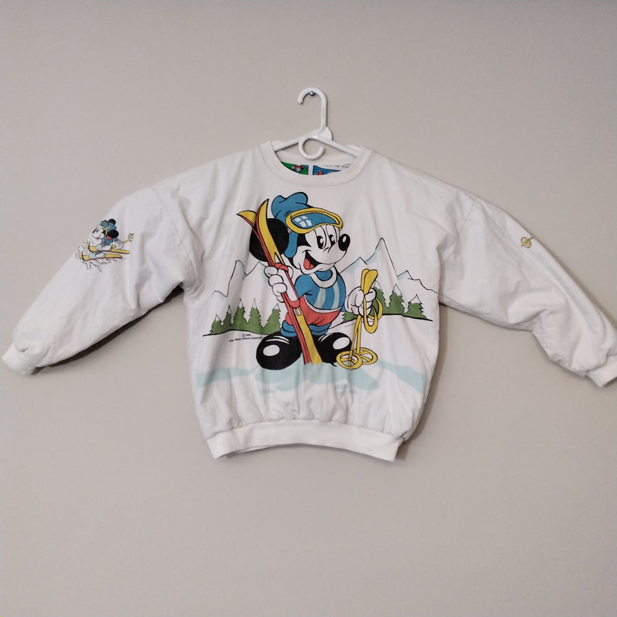 Vintage 80's Mickey Mouse Reversible Sweatshirt Size L - Beezy's Department Store