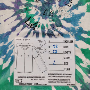 Fruit of the Loom Men's Jeepers, Msty Sure Is Smurfy! Tie Dye T-Shirt Size XL - Beezy's Department Store