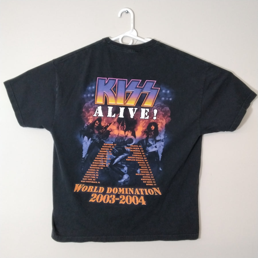 Vintage Kiss Rock Band Tee Tour T-Shirt Alive 2003 2004 Mens 2XL - Beezy's Department Store