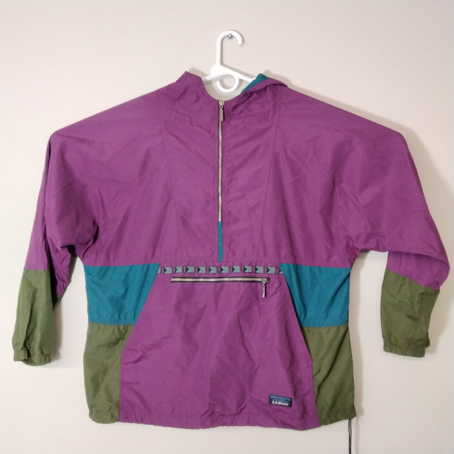 Vintage LL Bean Windbreaker Jacket Anorak Pullover Color Block Mens XL - Beezy's Department Store