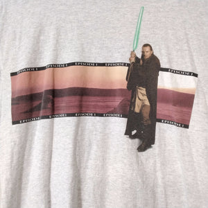 Vintage Star War Episode 1 Wrap Around Print T Shirt XL - Beezy's Department Store