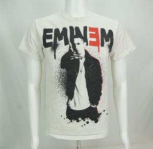 Eminem Rap Tee T-Shirt White Small - Beezy's Department Store