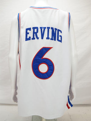 Mitchell & Ness Julius Erving #6  Philadelphia 76ers Basketball Jersey White 2XL - Beezy's Department Store