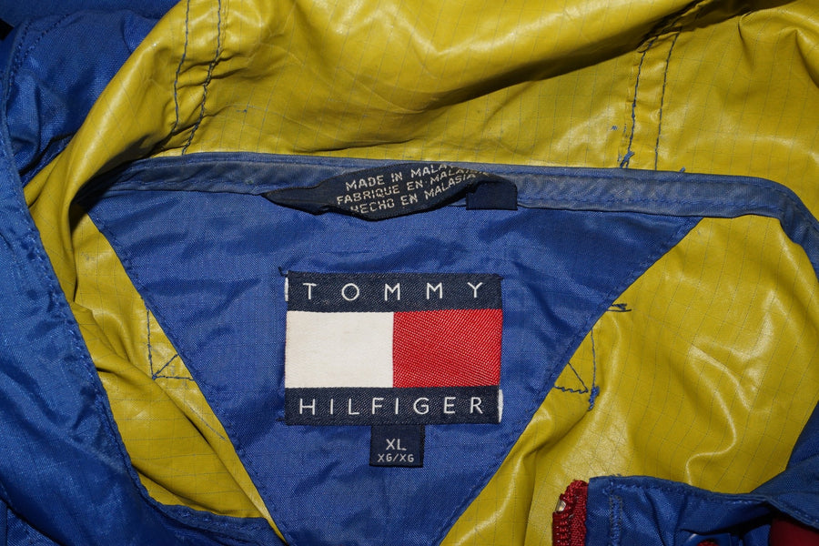 Vintage Tommy Hilfiger Spellout Jacket Windbreaker Blue Mens Size XL - Beezy's Department Store