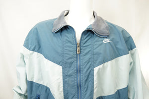 Vintage 80's Nike Sportswear Jacket Blue Color Block Mens 2XL - Beezy's Department Store