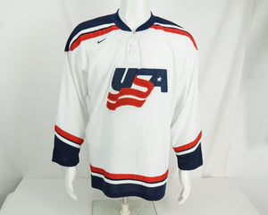 2002 Salt Lake City Team USA Winter Olympics Hockey Jersey NHL Youth Large - Beezy's Department Store