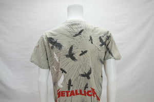 Vintage Metallic Birds All Over Print T-Shirt Rare Men's Large - Beezy's Department Store